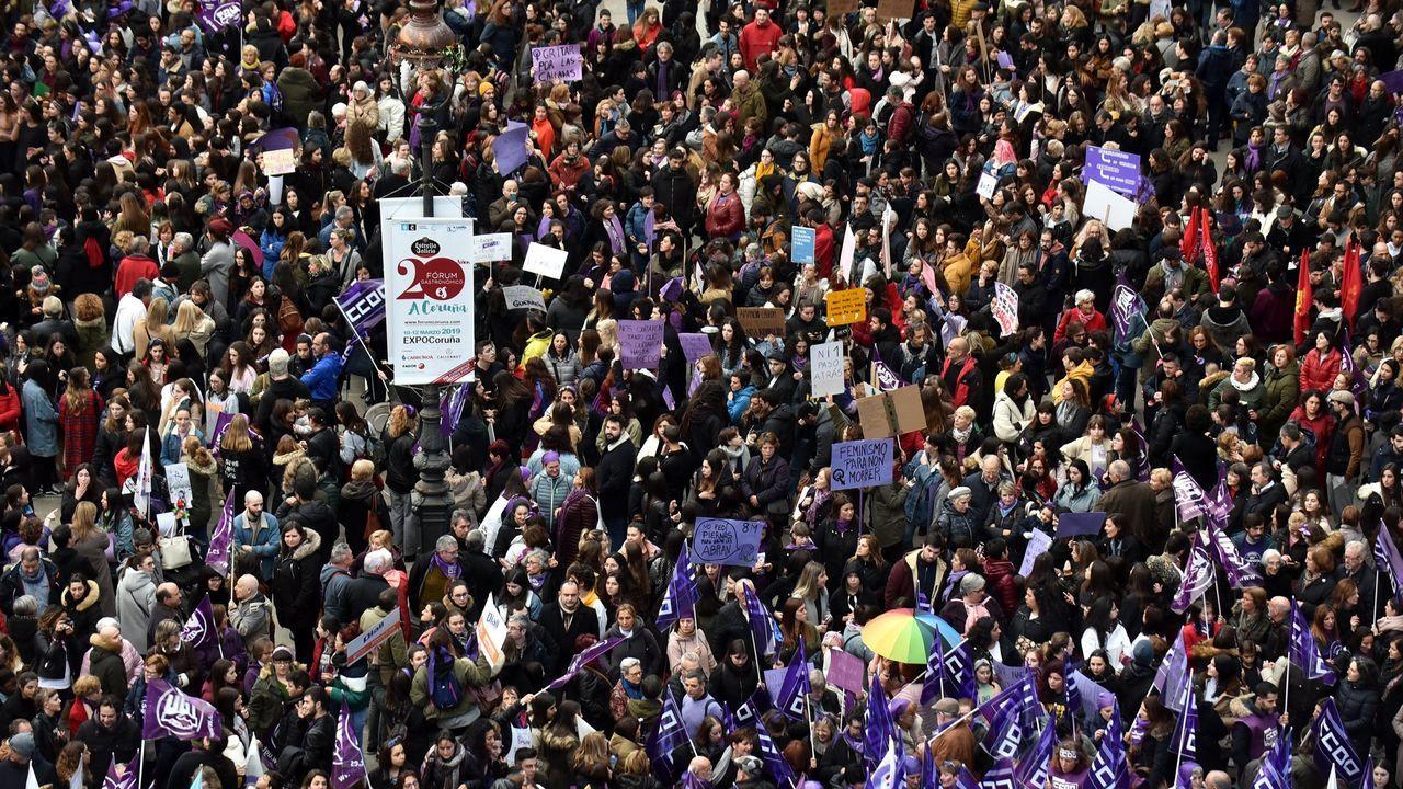 Manifestación del 8M en A Coruña en el año 2019