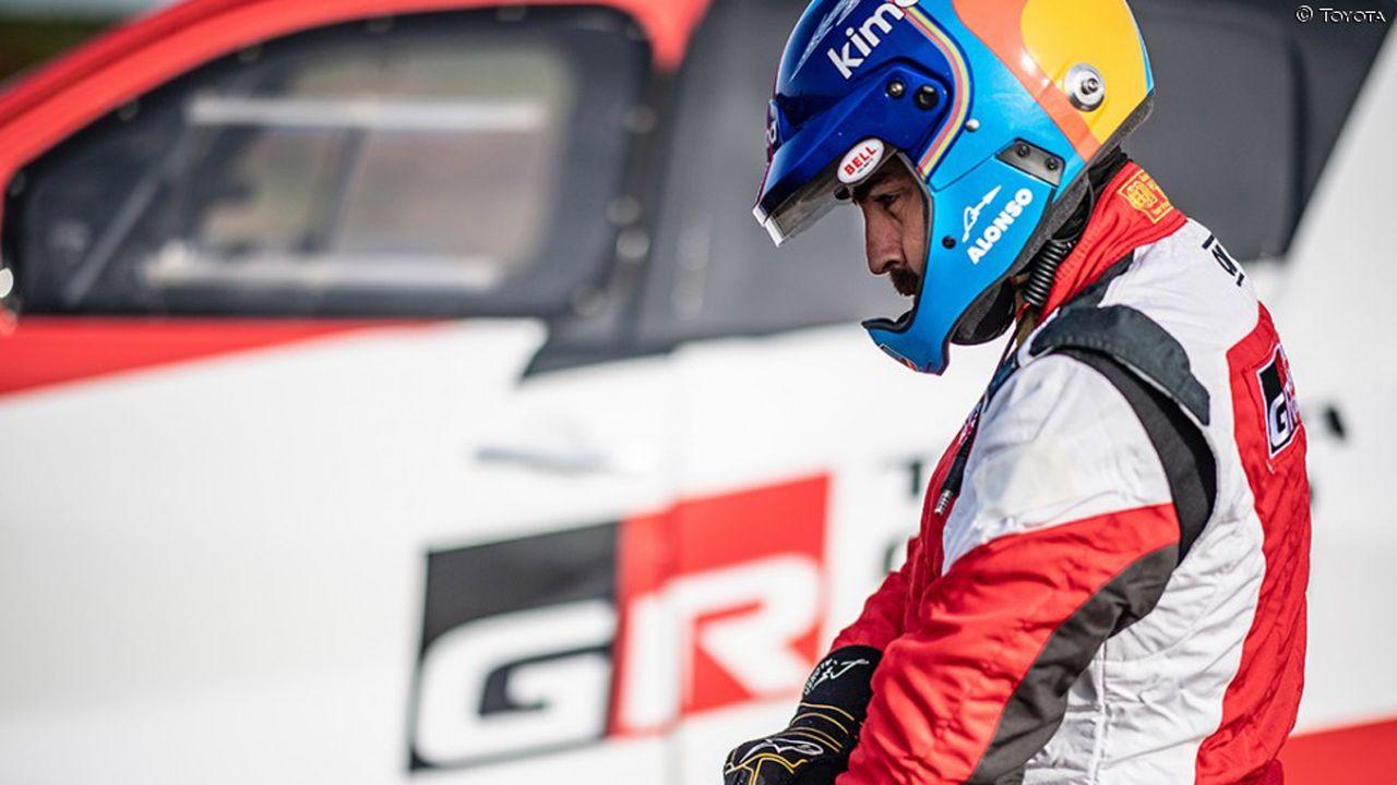 Fernando Alonso, Toyota, Rallye Marruecos.Alonso, durante su preparación con Toyota en Polonia