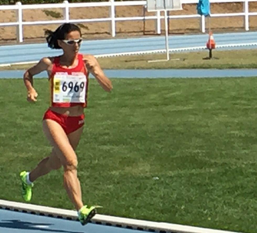 «Es el sueño de todo atleta».Luz Domínguez fue segunda en su serie clasificatoria.