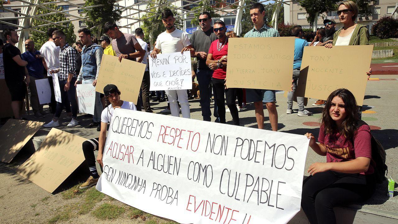 Concentración de apoyo al detenido por el crimen de Salceda de Caselas