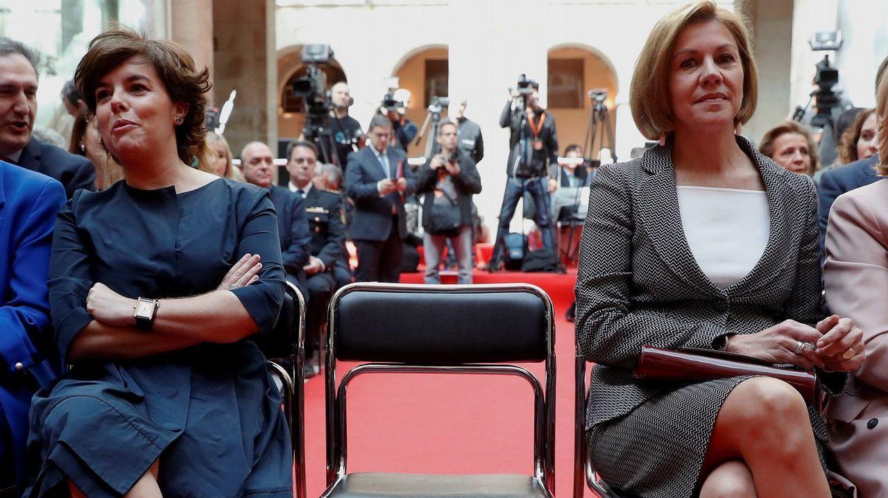 Rajoy afirma que «el PP es mucho más que diez o quince casos aislados» de corrupción.El presidente del Gobierno, Mariano Rajoy, saluda a la presidenta de la Fundación Víctimas del Terrorismo, Mari Mar Blanco, a su llegada a la reunión mantenida con representantes de asociaciones de víctimas del terrorismo en el Palacio de la Moncloa