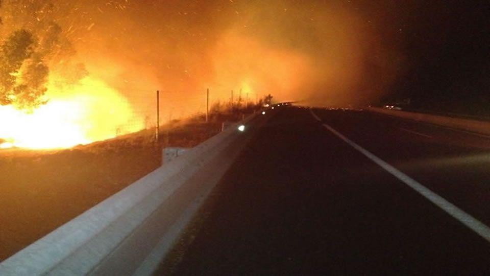 Incendio en Palmeira