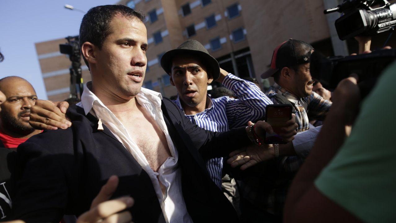 Guaidó, a su regreso el martes a Caracas, tras ser agredido en el aeropuerto