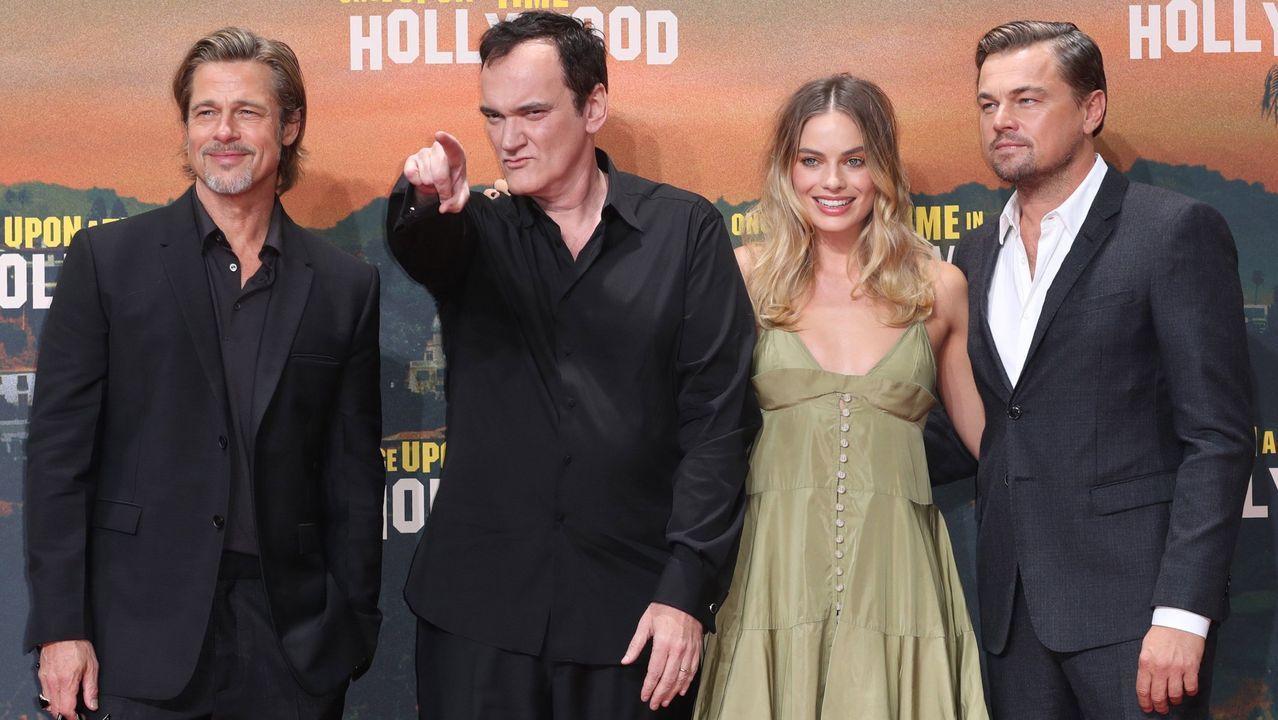 Pitt, Tarantino, Robbie y DiCaprio, el 1 de agosto, en la «première» de Berlín