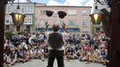 Festival infantil en la plaza de España durante el mes de agosto, en una imagen de archivo