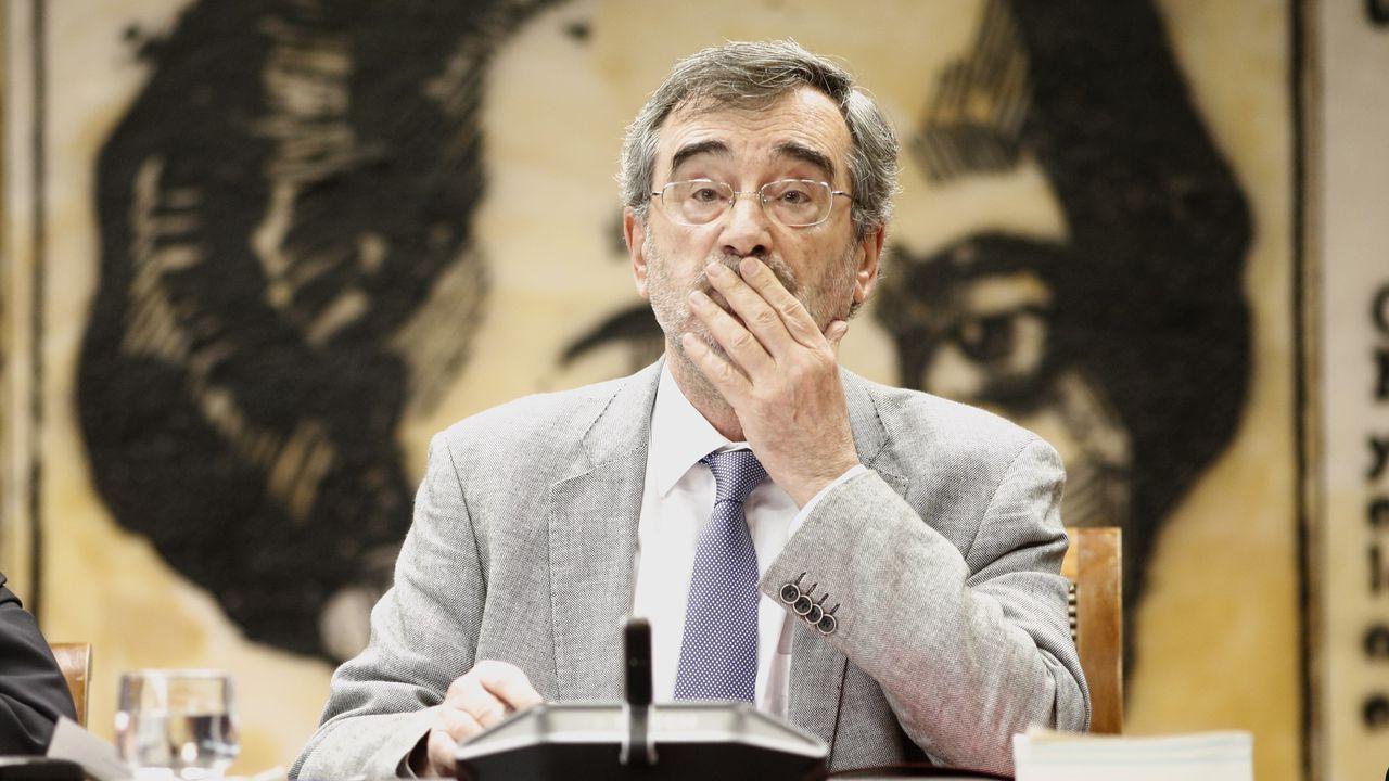 Manuel Cruz, durante la constitución de una de las comisiones del Senado