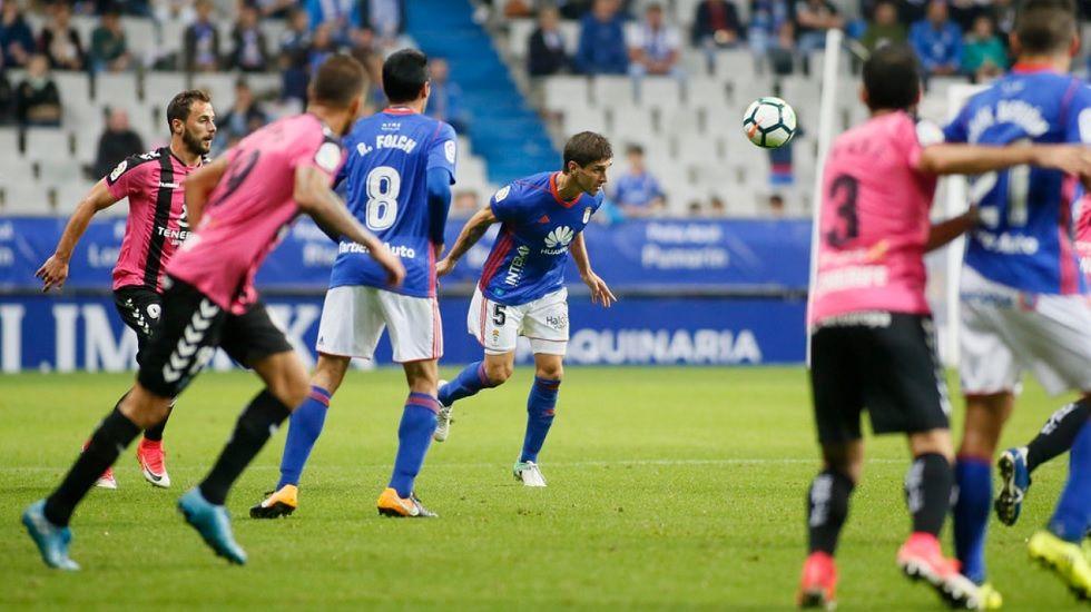 Forlin Horizontal.Forlin durante el partido frente al Tenerife