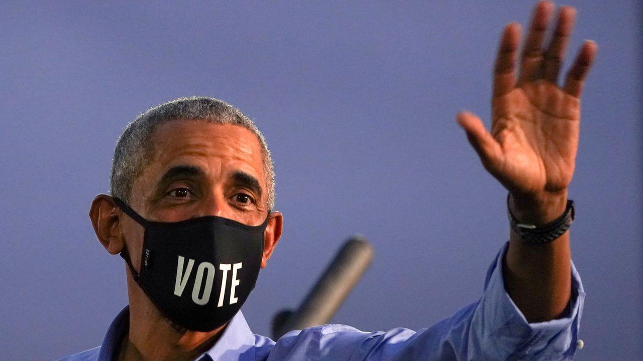 Obama, durante su primer mitin demócrata en Filadelfia