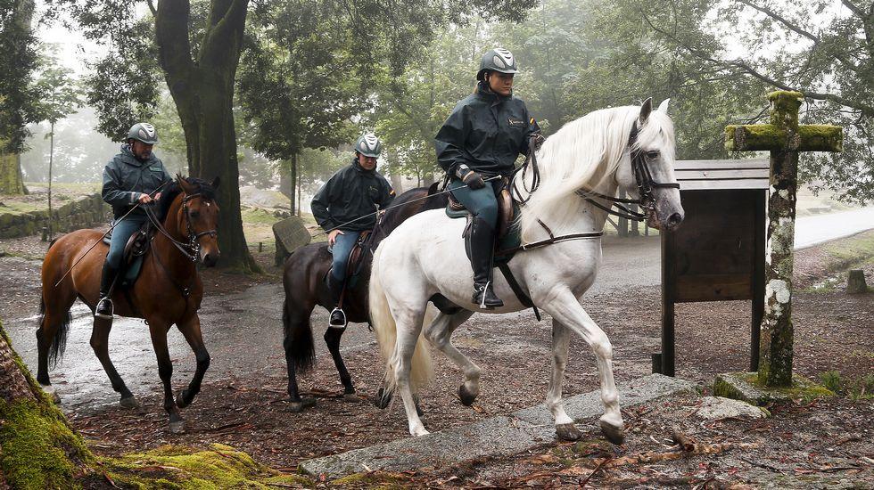 La Guardia Civil montada refuerza la seguridad en el Camino