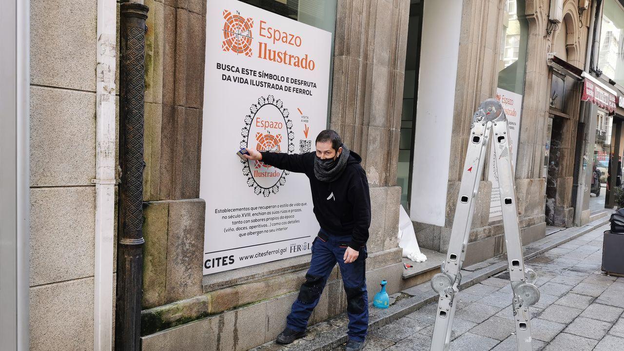 El 2020 también fue año de nuevas aperturas.Inauguración de la exposición «O fin do Camiño», que se podrá ver en O Corgo hasta el martes.