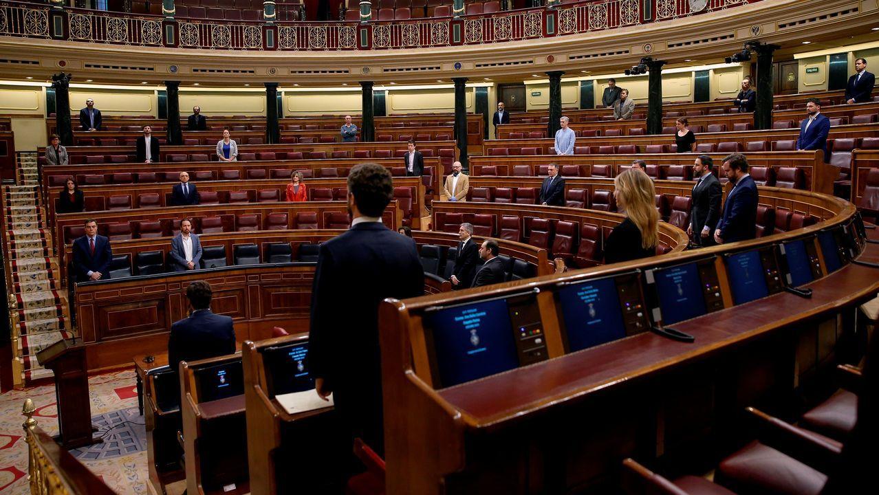 Minuto de silencio al comenzar la sesión en el Congreso de los Diputados