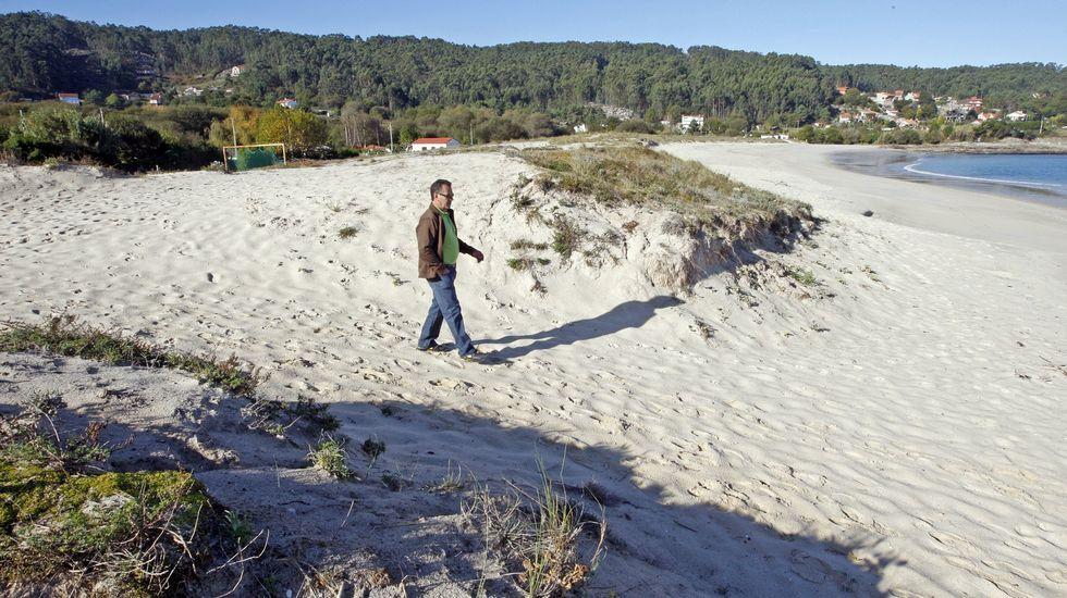 Playa de Area Brava, en Cangas