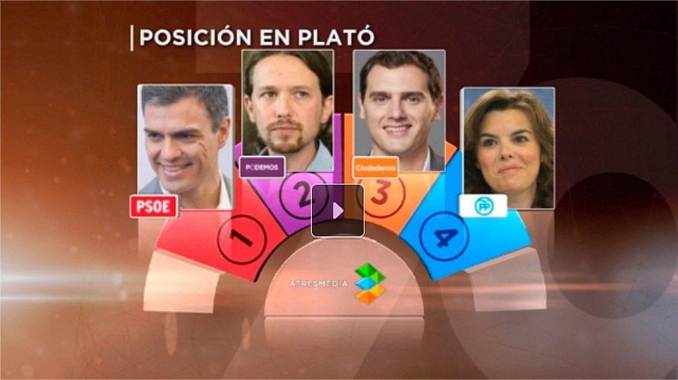 Así será el debate a 4 en Atresmedia.Anne Igartiburu y Ramón García darán las campanadas en La 1 de TVE.