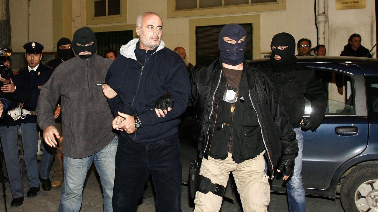 Rodrigo Rato.Detención del capo siciliano Domenico Raccuglia, en una imagen de archivo