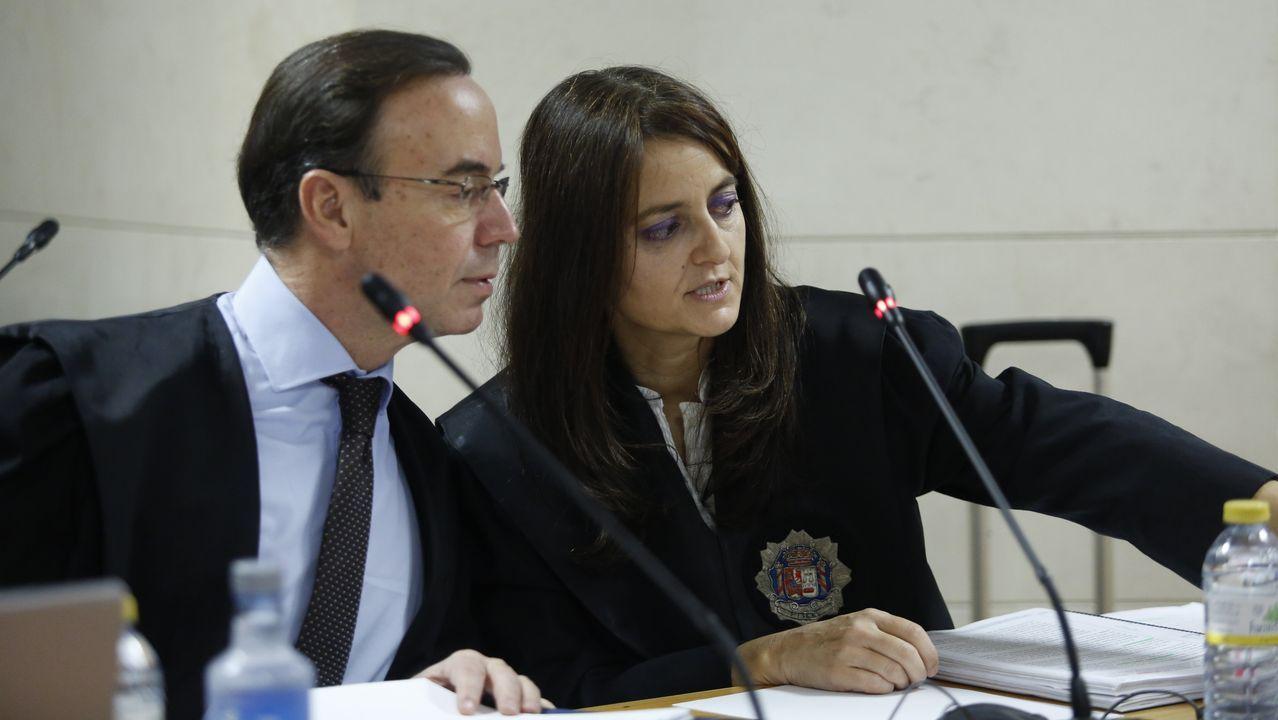 Fiscalía y acusacion particular en la novena jornada del juicio
