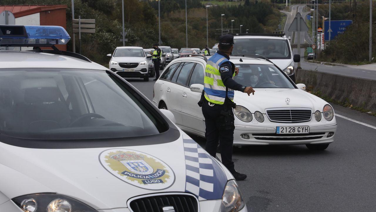Los agentes de la Policía Local de Lugo realizaron controles en vías de entrada y salida de la ciudad, como O Ceao