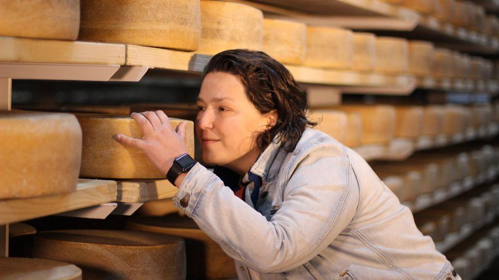 Queso cabrales.Los laboratorios de Agafac en el puerto analizan cada día muestras de cereales importados