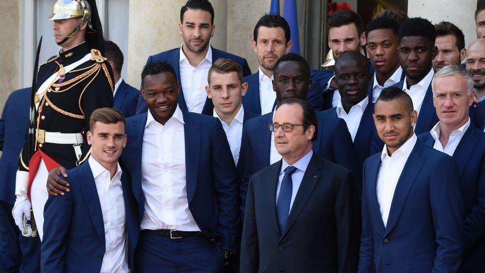 Hollande recibe a los «Bleus»