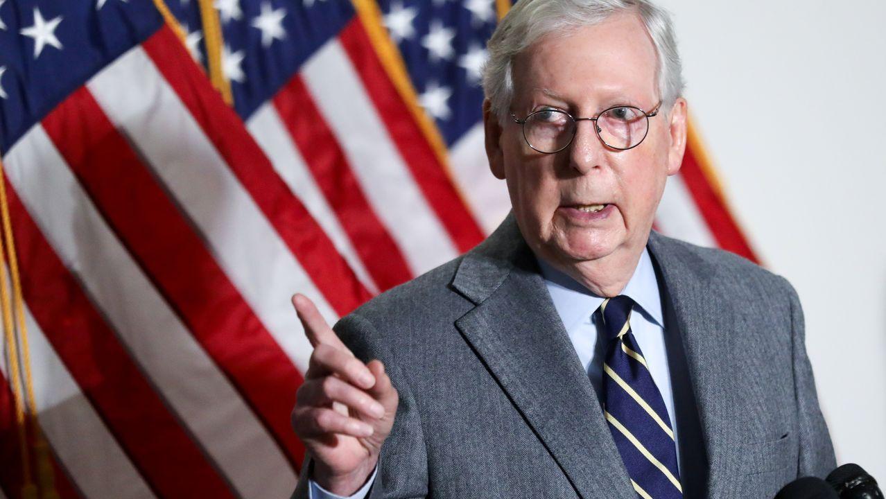 Mitch McConnell, líder de los republicanos en el Senado