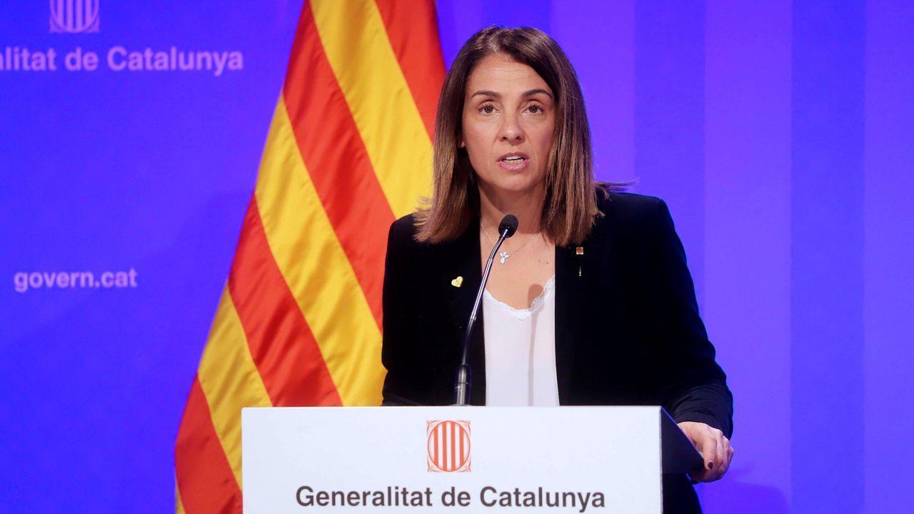 Pedro Sánchez explica la petición que hará al Congreso para prolongar el estado de alarma.La consejera de la Presidencia y portavoz del Gobierno catalán, Meritxell Budó