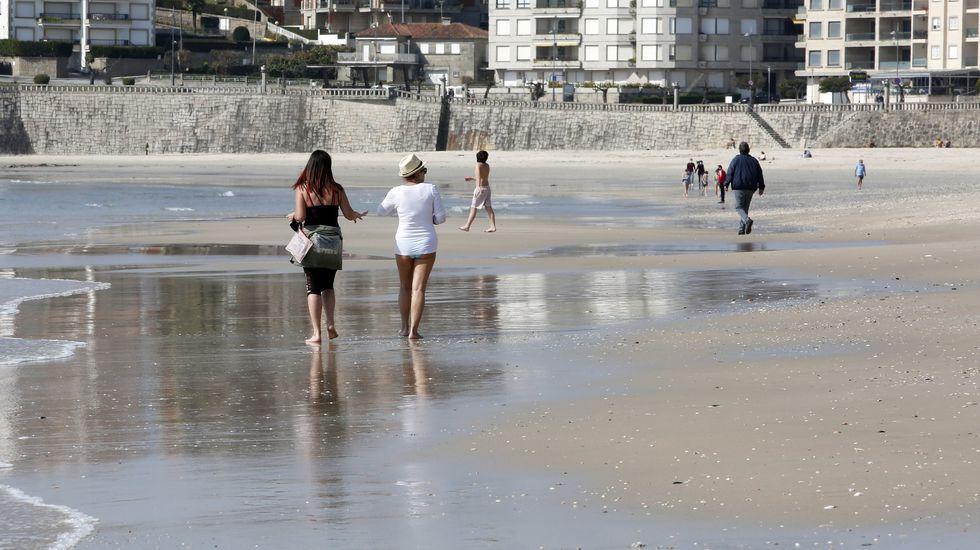 Las playas de bandera azul de la ría de Pontevedra 2021.Playa de Silgar, Sanxenxo
