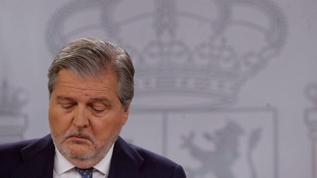 Méndez de Vigo, durante la rueda de prensa posterior a la reunión del Consejo de Ministros, hoy en La Moncloa