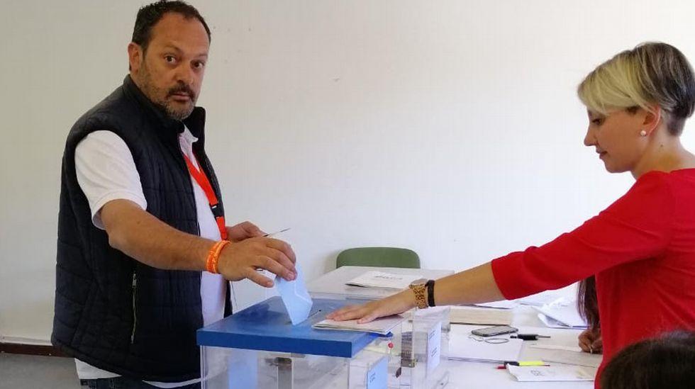 ELECCIONES 26M EN A LAMA: VOTACIÓN DEL CANDIDATO A LA ALCALDÍA POR CIUDADANOS, ANDRÉS CAL