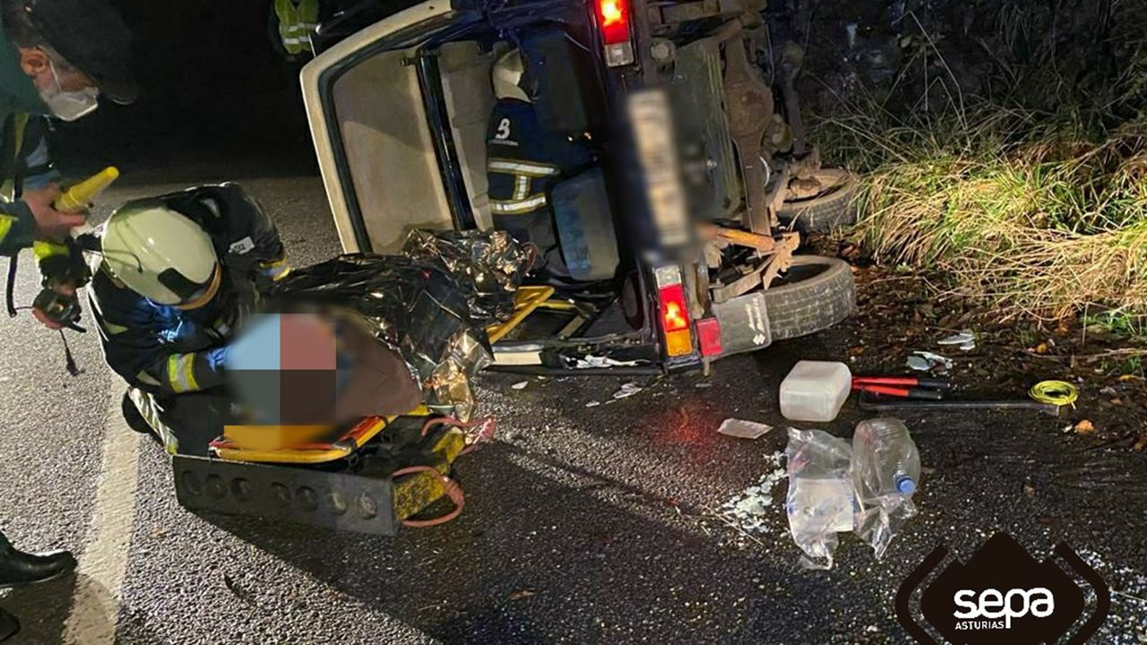 Accidente de tráfico en Villaviciosa