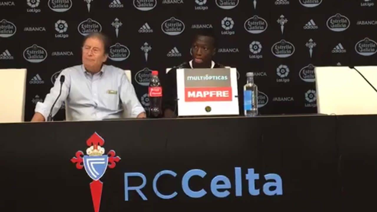 Despedida de Pape Cheikh del Celta.La gestión económica de Mouriño se ja plasmado en grandes resultados para el club