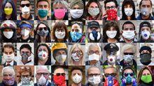 Un fotógrafo capturó las diferentes formas de protegerse de los ciudadanos de Génova
