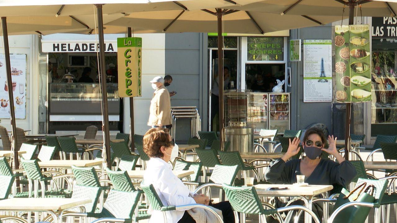 Un bar de Valencia, donde la hostelería tiene que cerrar a las cinco de la tarde