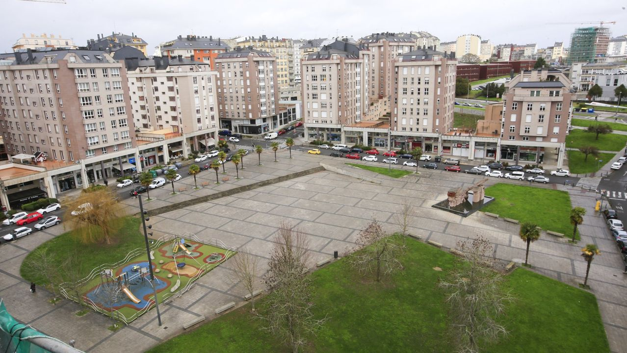 Praza de Augas Férreas donde se instalarán terrazas