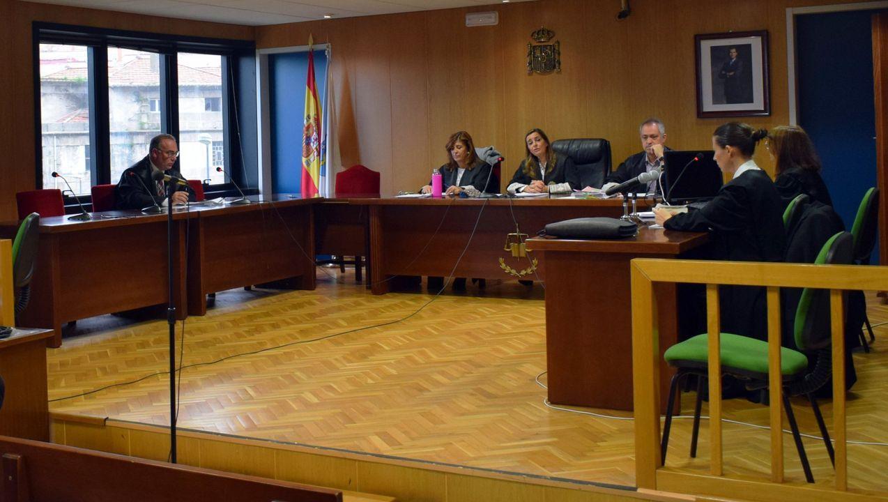 O Mulo, durante un juicio en la Audiencia de Pontevedra