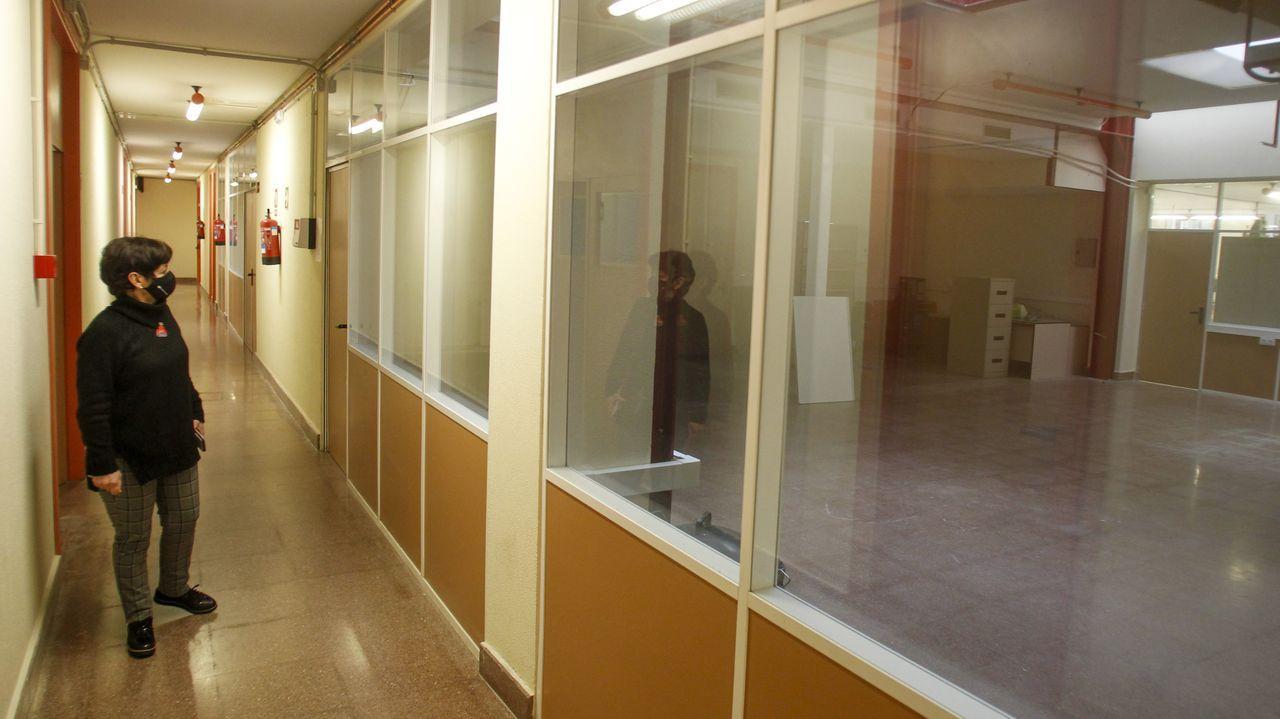 En el sótano de la Politécnica Superior ya se han hecho obras para ampliar algunos laboratorios ante el próxima traslado de los alumnos de Serantes al centro de Esteiro