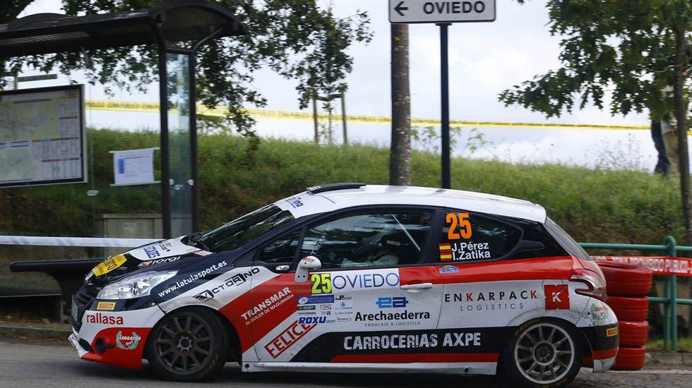 Tramo urbano del Rally Princesa de Asturias.Tramo urbano del Rally Princesa de Asturias. ARCHIVO