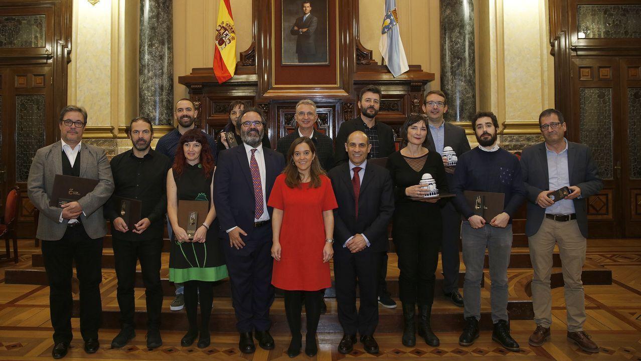 Entrega de los Premios Prisma en el Ayuntamiento de A Coruña.