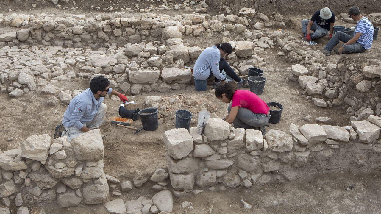 combo galegos 1.En la imagen, excavaciones de la UDC en el yacimiento de Tell el-Fara (Palestina)