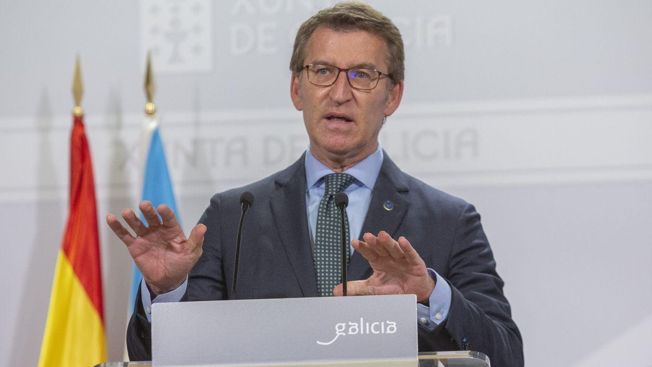 Alberto Núñez Feijoo, tras el Consello de la Xunta, en una imagen de archivo