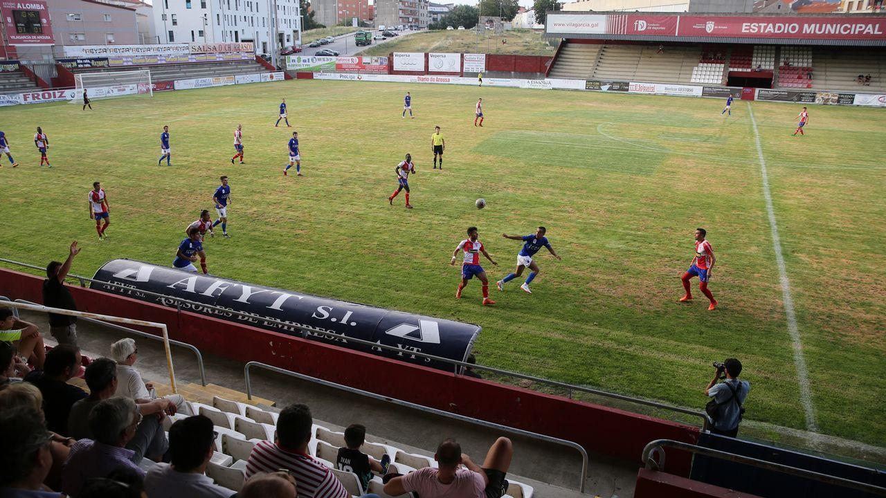 Las imágenes del partido entre el Juventud Cambados y el Xuventú Sanxenxo