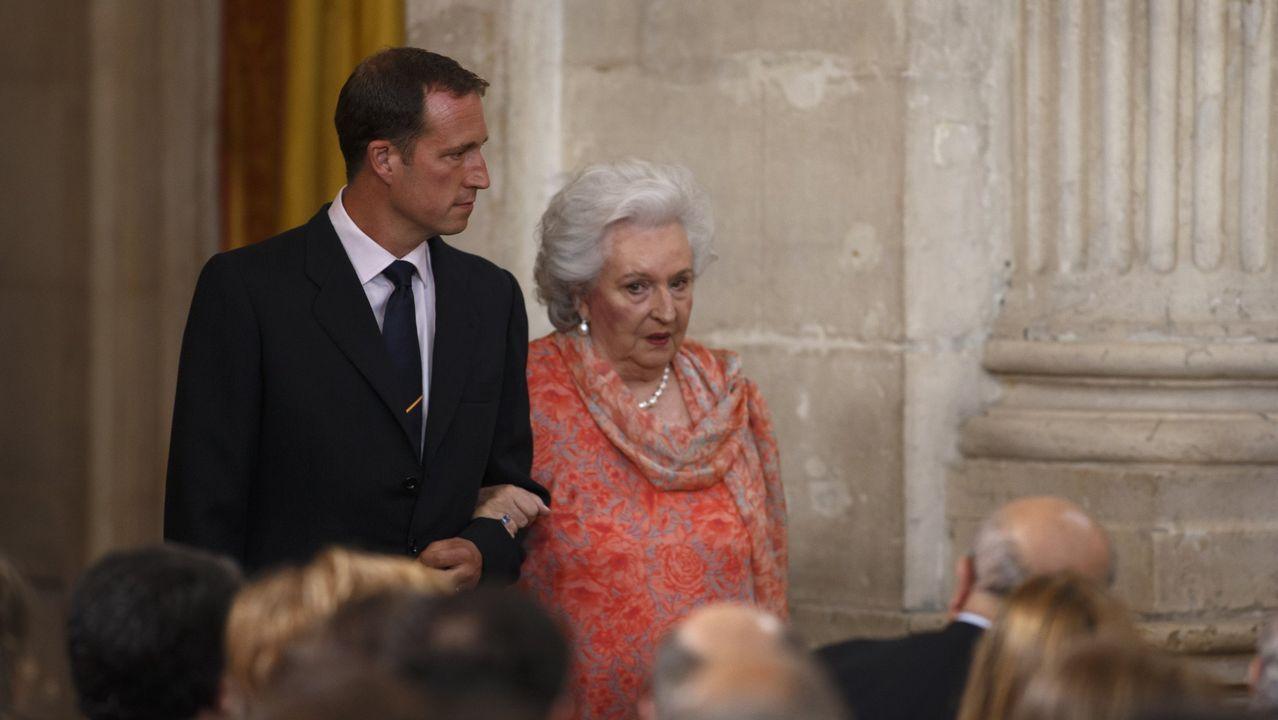 En el acto de abdicación del rey Juan Carlos en el 2014
