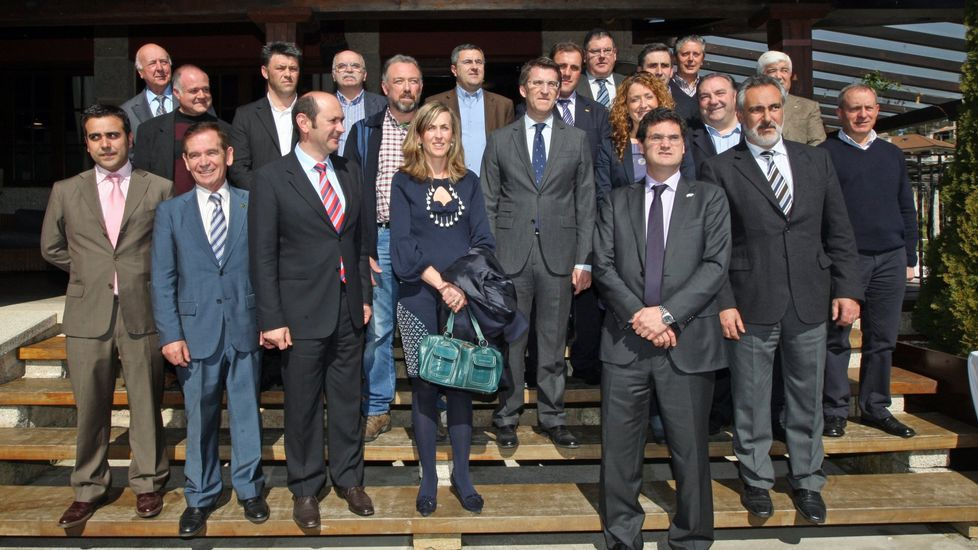 Los presidentes de las DO y las IXP salidos de las urnas en 2012, con el presidente de la Xunta, Alberto Núñez Feijoo