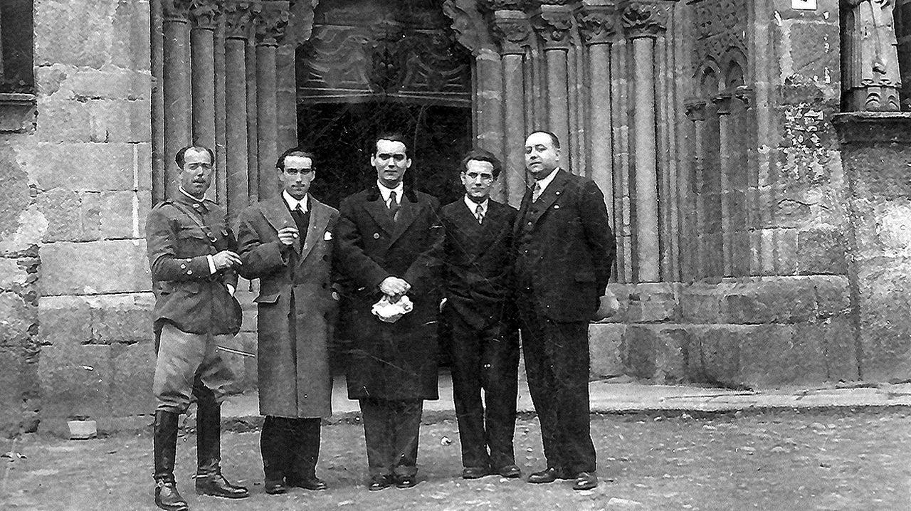 Federico García Lorca en Betanzos, nunha das súas visitas a Galicia
