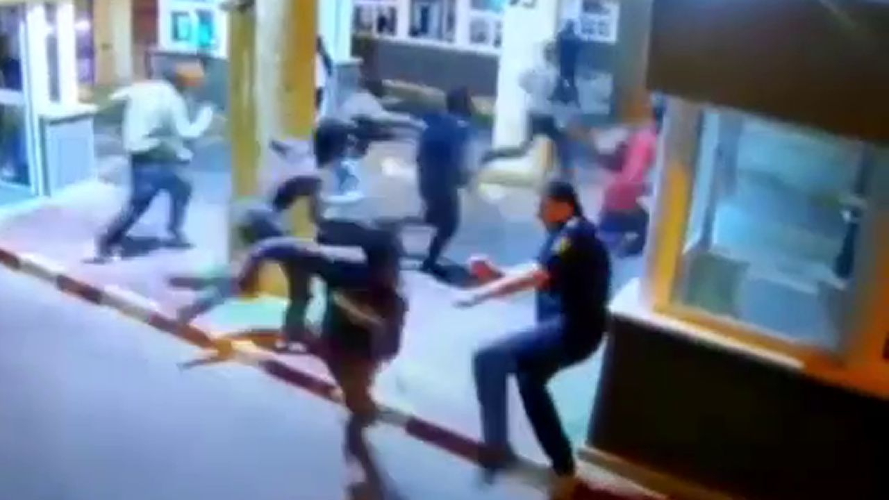Polémica actuación de la Policíaen el Tarajal