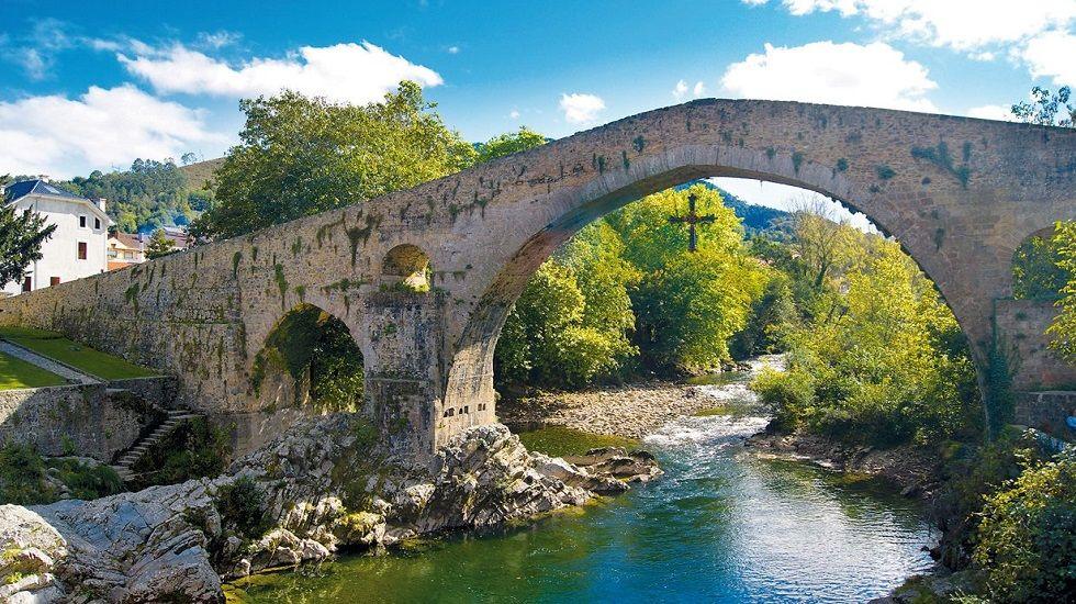 El Puente Romano, en Cangas de Onís