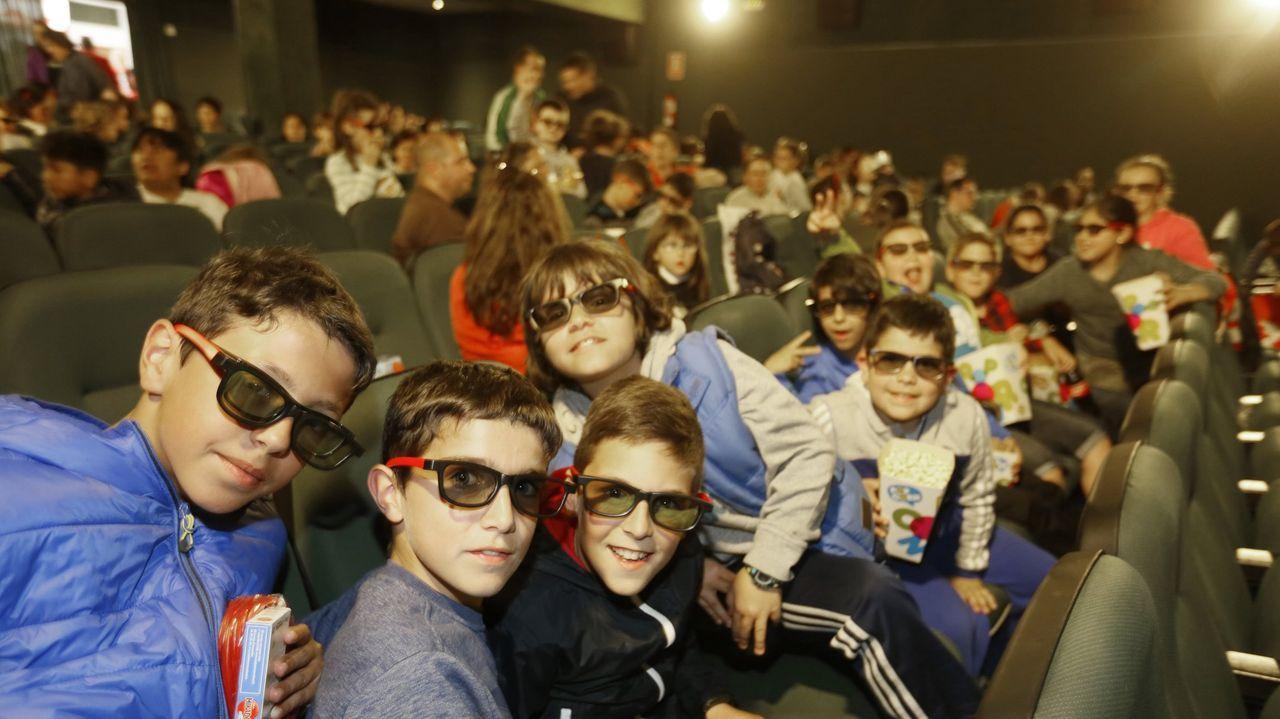 Imagen de archivo de la proyección de una película en 3D en Cines Viveiro en el año 2016
