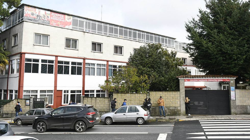 Imagen de archivo de una clase del colegio O Grupo de Ribeira