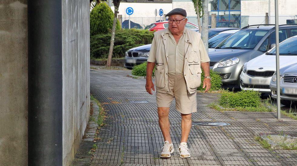 Manuel Charlín Gama en una foto de junio del 2019, yendo al juzgado por un delito de lesiones