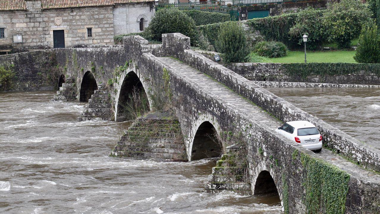 Crecida del río Tambre en Pontemaceira