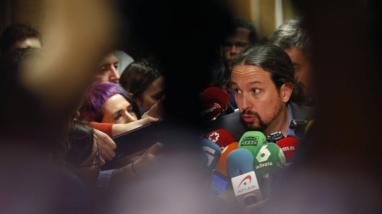 El líder de Vox, Santiago Abascal, durante la entrevista ofrecida en RTVE
