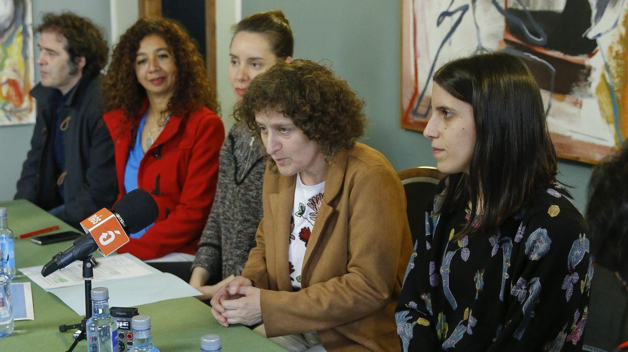Presentación en Lugo de las actuaciones del festival Atlántica programadas en la provincia. La artista Soledad Felloza, que actuará en Monforte, es la segunda por la derecha